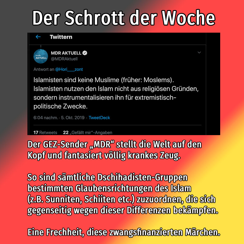 GEZ-Sender MDR fantasiert über Islam #mdr  #gez  #luegenpresse #ReligionsMaerchen  #TausendUndEineNacht #TSD01 #Date:10.2019#