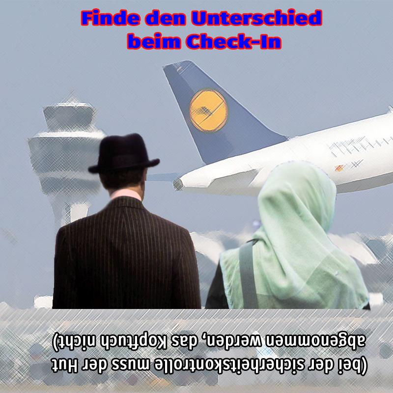 Surreale Sicherheitsstrategie an deutschen Flughäfen.#diskriminierung #flugsicherheit #Date:10.2019#