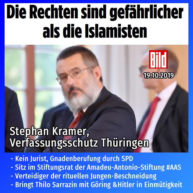 #thüringen #verfassungsschutz #kramer #amtsmissbrauch #islamisten #rechte  #Date:10.2019#