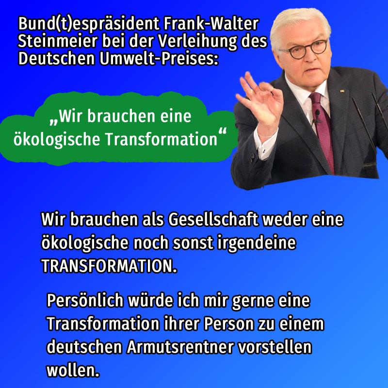 Bild zum Thema #steinmeier  #umweltpreis  #fff  #transformation  #ökologisch
