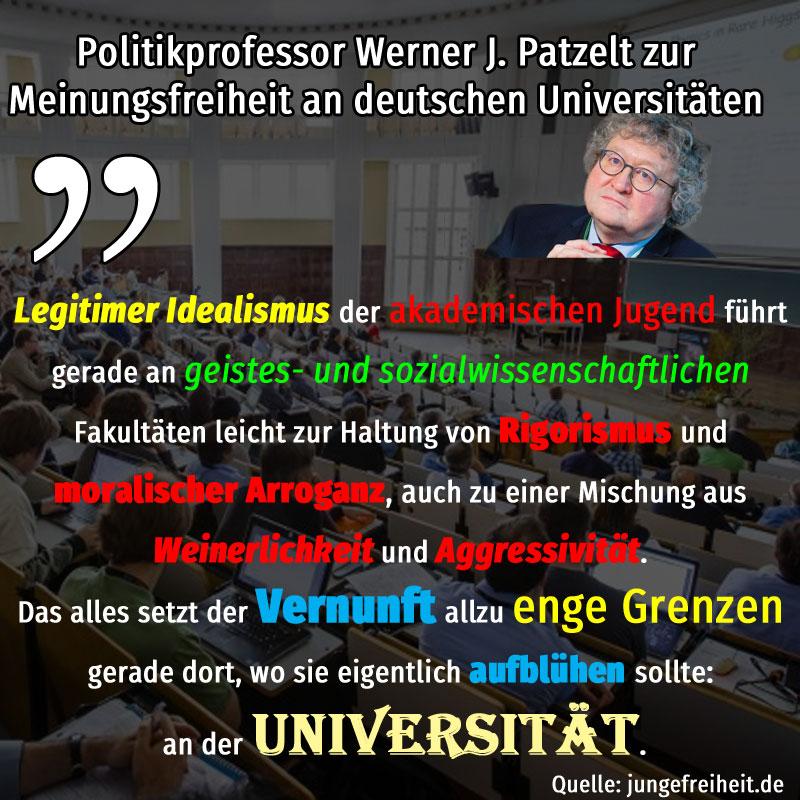 Bild zum Thema #patzelt  #meinungsfreiheit  #universität