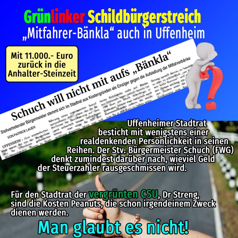 Bild zum Thema #Mitfahrer-Bänkla #Uffenheim #Landkreis NEA-BW'