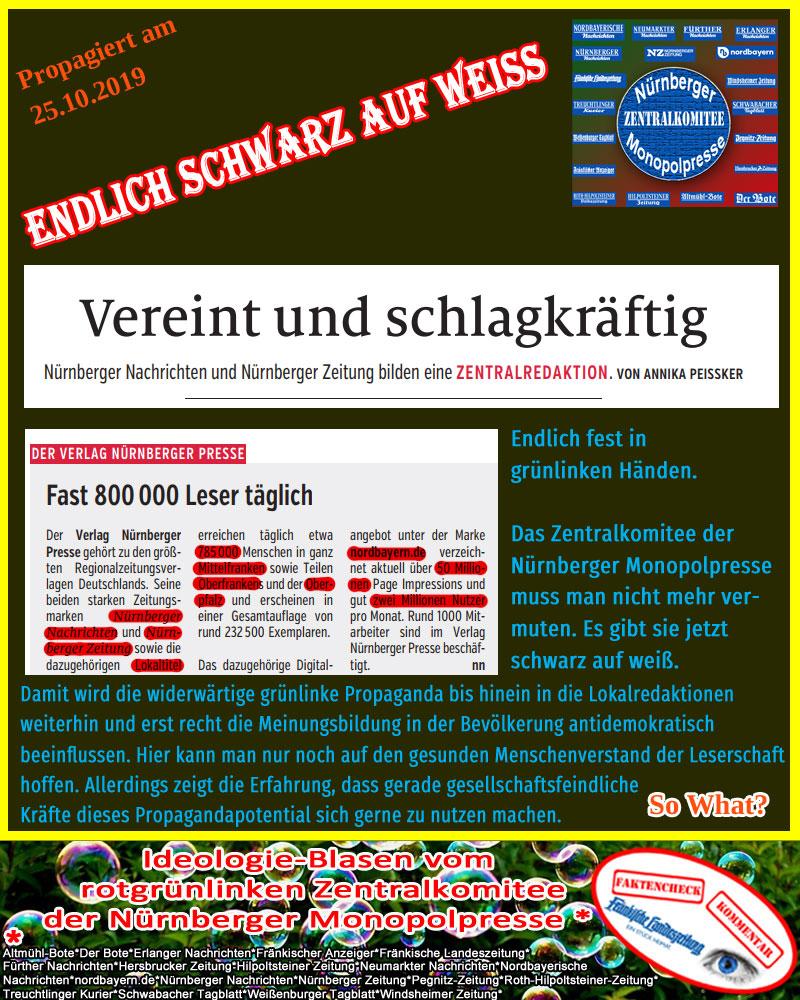 Bild zum Thema #nürnberg  #zentralredaktion  #pressemonopol  #flz  #grünlinks #propaganda