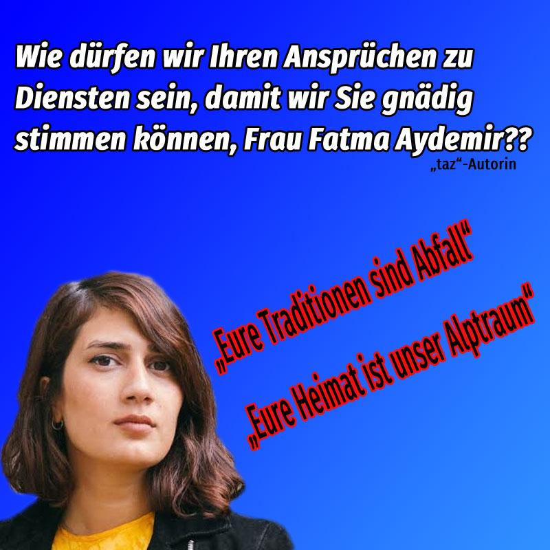 Bild zum Thema Frau Aydemir beklagt, dass deutsche Tradition Abfall sei und deutsche Heimat ein Alptraum für Migranten