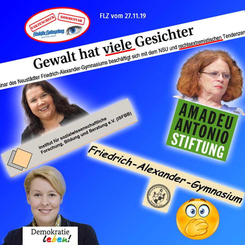 Bild zum Thema  Neustadt/Aisch: Friedrich-Alexander-Gymnasium #fag fest in grünlinker Hand