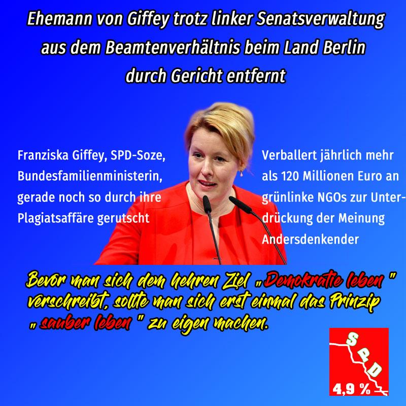 Bild zum Thema #giffey #spd #demokratie_leben #sauber_leben
