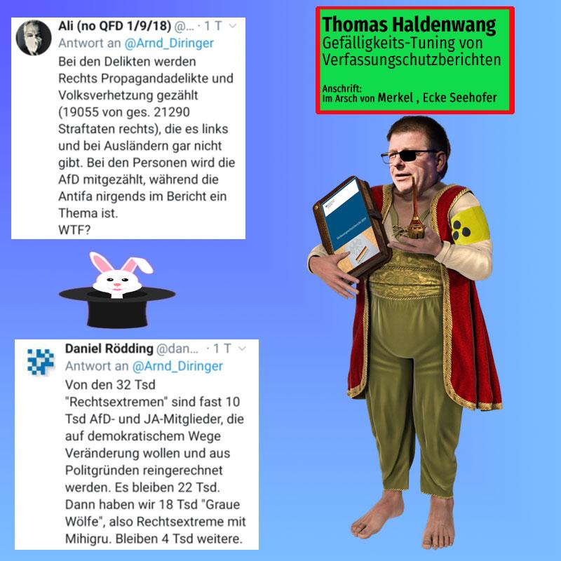 Thomas Haldenwang für das Auftrags-Tuning von Verfassungsschutzberichten #Date:07.2020#