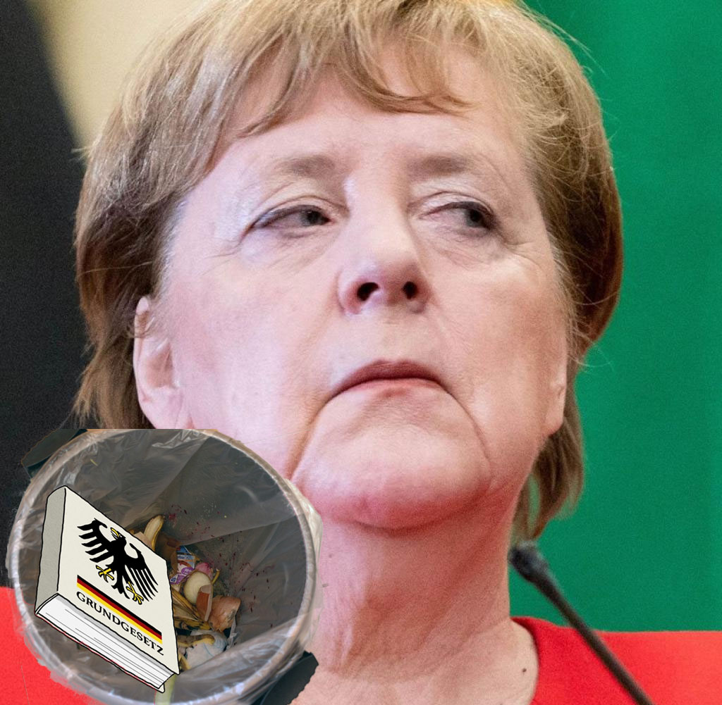 Bild zum Thema AfD nimmt Kampf gegen Demokratie-Lumperei von Gottkanzlerin Merkel auf