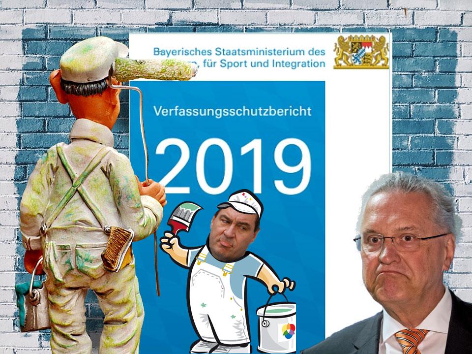 Bild zum Thema Bayerische Hexenjäger tun Buße - Innenminister Herrmann muss Verfassungschutzbericht 2019 schwärzen