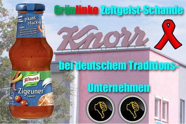 Bild zum Thema Knorr scheisst sich vor dem Zeitgeist ein und benennt Zigeuner-Sauce um.