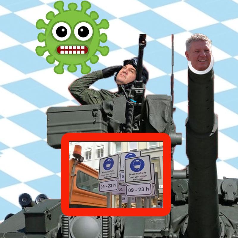 Bild zum Thema CSU-Dödel-Söder zwingt in Bayern per Bundeswehreinsatz das Corona-Virus zur Nachtruhe