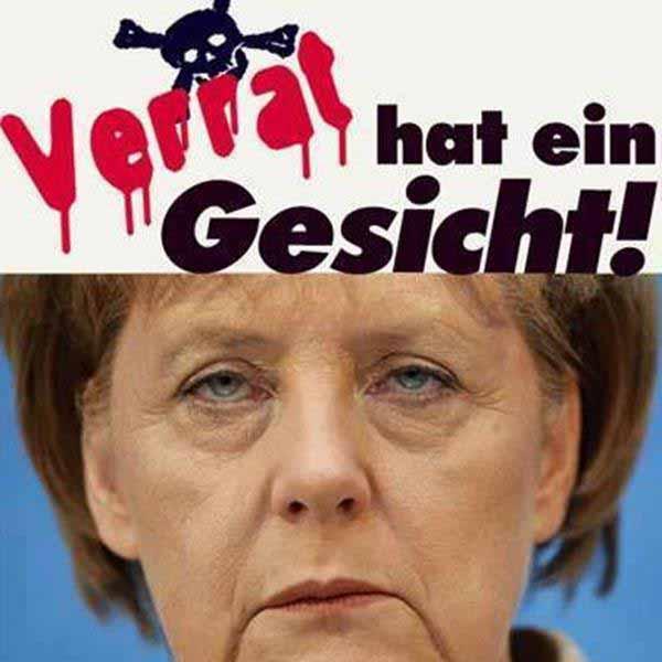 Verrat hat ein Gesicht – Merkel. #Date:01.2016#
