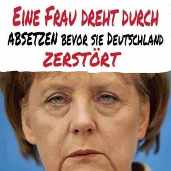 Merkel dreht durch – Absetzung bevor sie Deutschland zerstört. #Date:01.2016#
