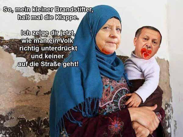 Merkel kann selbst Leuten wie Erdogan noch was beibringen. Entsetzlich. #Date:03.2016#