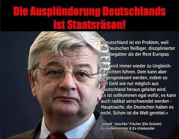 Wenn Deutschland kein Geld hat, ist die Welt gerettet. Joschka Fischer, GRÜNE #Date:01.2016#