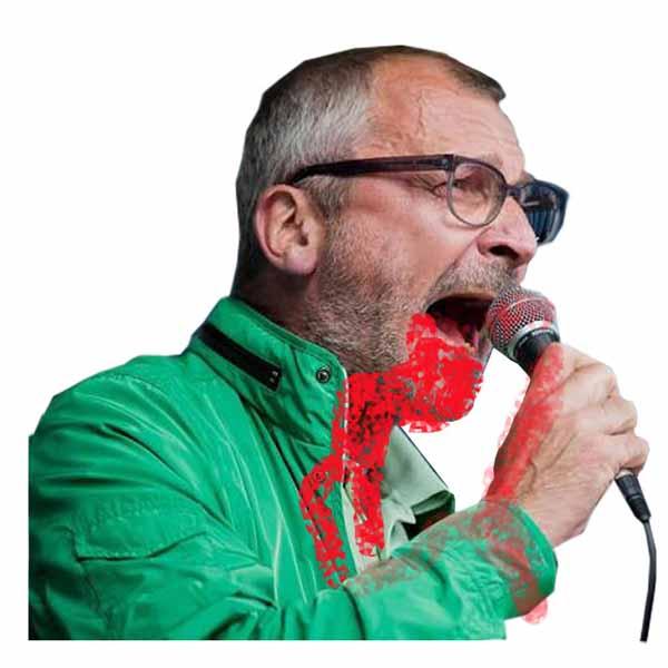 Blut-Volker-Halal-Beck von den Grünen, der sich öffentlich für die Akzeptanz ritueller Beschneidungen und des Schächtens in  Deutschland stark macht. Wurde inzwischen mit Drogen erwischt. Mit so einem verwirrtem Geist stelle ich mir einen Junkie vor. #Date:02.2016#