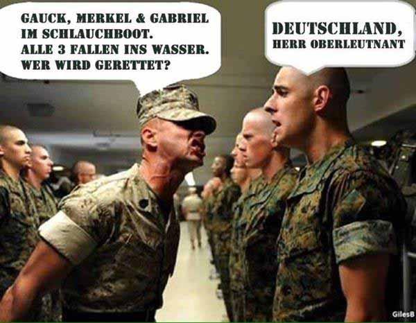 Gauck, Merkel und Gabriel im Schlauchboot, Alle 3 fallen ins Wasser. Wer wird gerettet? Deutschland #Date:01.2016#