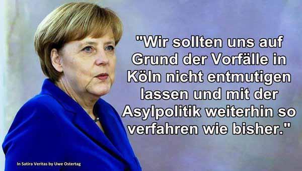 Nach den Vorfällen am Kölner Hauptbahnhof machen wir so weiter wie bisher, sagt Bundeskanzlerin Merkel #Date:01.2016#