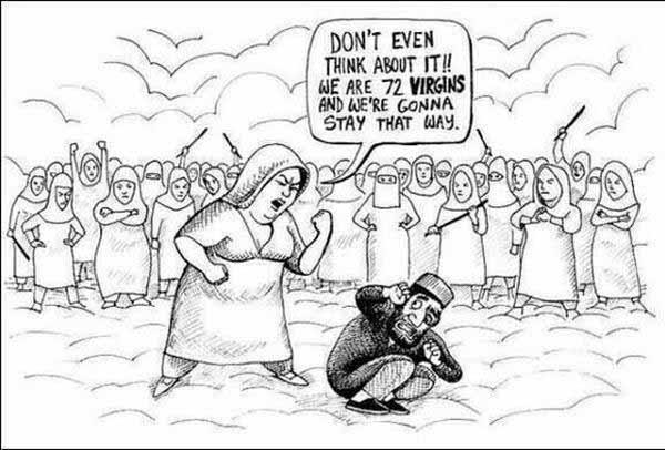 Ansage an Djihadisten von den 72 Jungfrauen – Wage es nicht auch nur daran zu denken. #Date:12.2015#