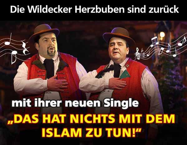 Die SPD und Zentralrat der Muslime als Wildecker Herzbuben sind zurück, Das hat NICHTS mit dem Islam zu tun #Date:01.2016#
