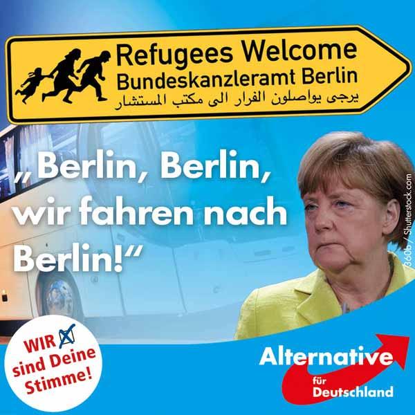 Ein Ende des Flüchtlingsstroms ist nicht abzusehen, Das Ende von Merkel schon. #Date:01.2016#