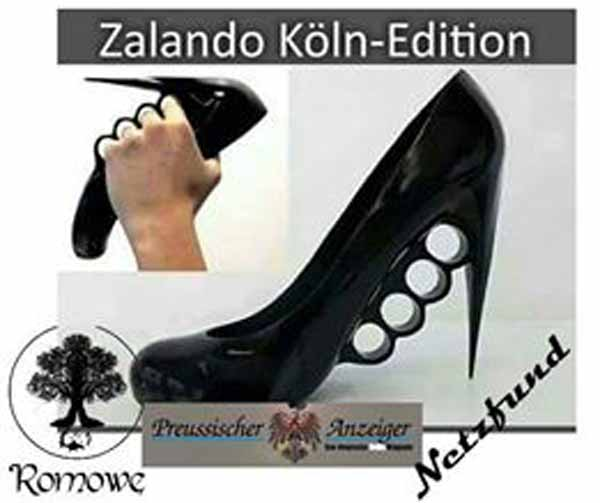 Zalando Edition Köln: Highheels mit Fingergriffen zum Zuschlagen #Date:01.2016#