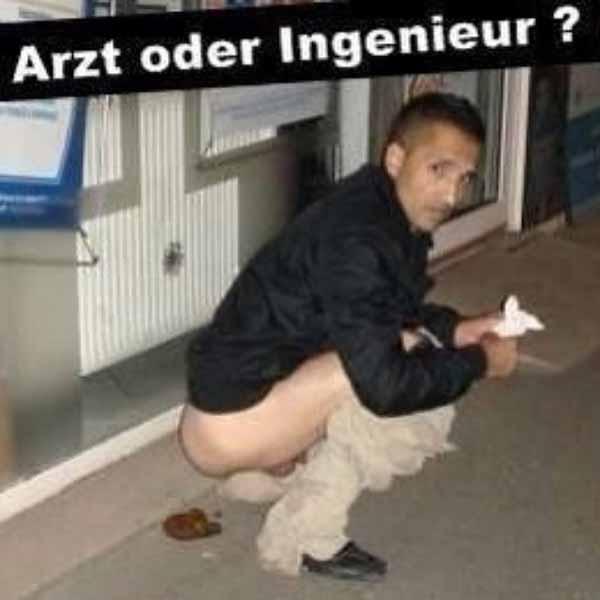 Araber kackt auf Straße. Arzt oder Ingenieur? Fachkraft? #Date:01.2016#