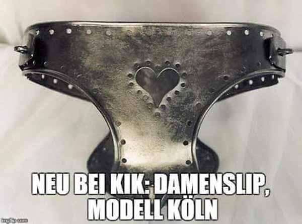 Damenslip Modell Köln: Vollmetall Keuschheitsgürtel mit Schloss #Date:01.2016#