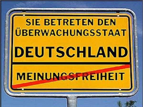 Sie betreten den Überwachungsstaat Deutschland. Meinungsfreiheit gestrichen. #Date:01.2016#