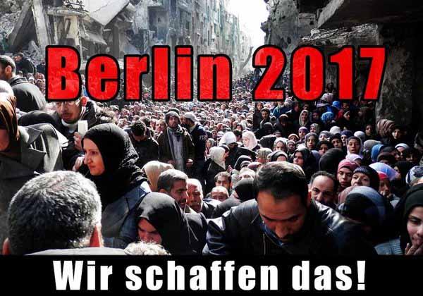 Berlin 2017. In Schutt und Asche. Von Moslems besetzt. #Date:01.2016#