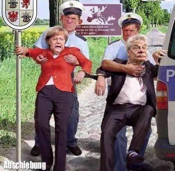 Cartoon: Merkel und Gauck werden abgeschoben. Viele Deutsche träumen davon #Date:01.2016#