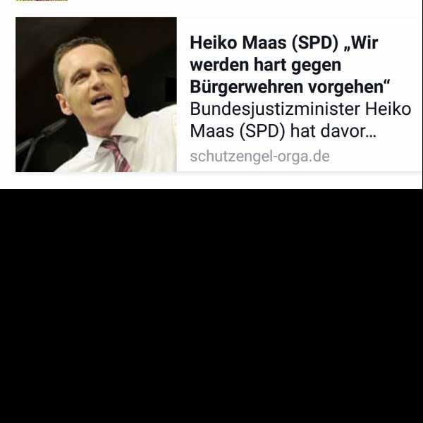 Bundesjustizminister Maas will Bürgerwehren verbieten. #Date:01.2016#