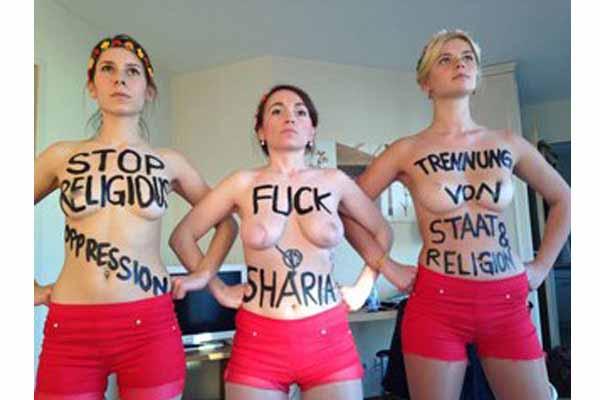 Mit nackten Titten gegen Koran, Scharia und Moslems #Date:01.2016#