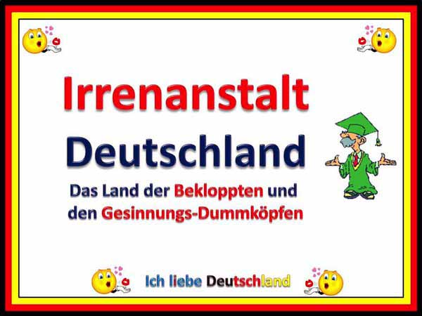 Irrenanstalt Deutschland. Land der Bekloppten und der Gesinnungs-Dummköpfe #Date:01.2016#