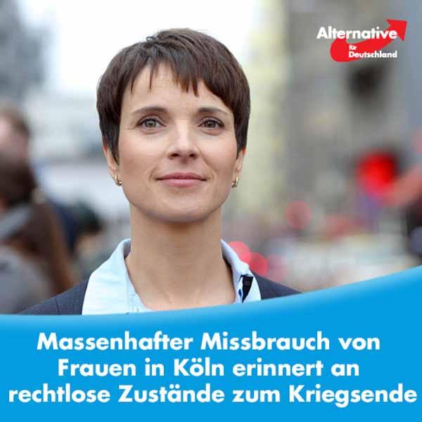 Massenhafter Missbrauch von Frauen in Köln erinnert an rechtlose Zustände zum Kriegsende #Date:01.2016#