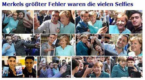 Merkels neues Volk. Unter Moslems fühlt sie sich wohl. Vielleicht, weil sie begrapscht wird? #Date:01.2016#