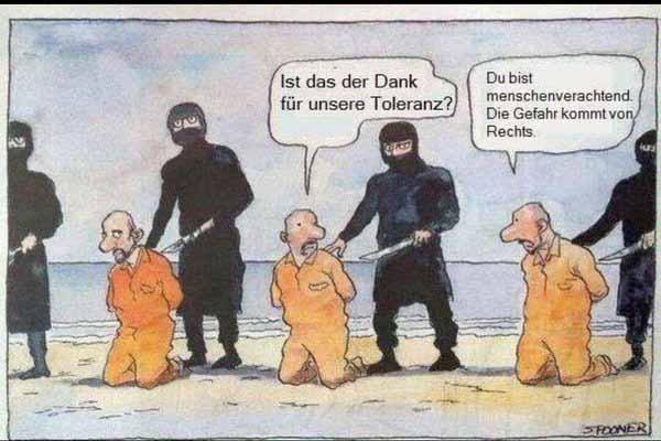 Die Gefahr kommt von Rechts, sprach der Gutmensch angesichts des nahenden Todes von Links #Date:01.2016#
