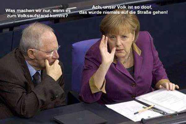 Schwaben-Beutel Schäuble und Merkel (muss weg) über das dumme Volk #Date:02.2016#