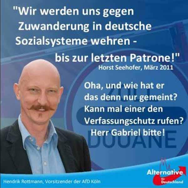 Seehofer: wir werden uns gegen Zuwanderung in deutsche Sozialsysteme wehren – bis zur letzten Patrone. Verfassungsschutz? #Date:02.2016#