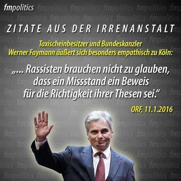 Der österreichische Bundeskanzler Faymann kriecht Noch-Bundeskanzlerin Merkel in den Arsch #Date:01.2016#