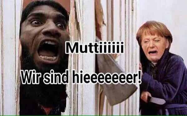 Mutti Merkel wir sind hier! Wir wollen uns bedanken!! #Date:02.2016#