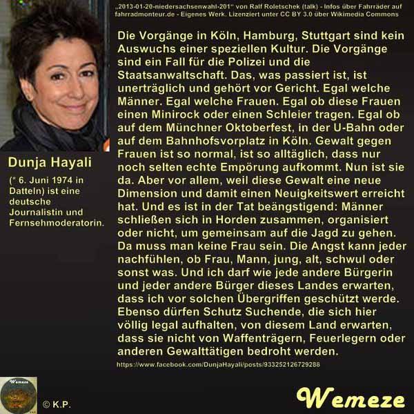 Statement von Dunya Hayali zu den Vorkommnissen Silvester 2015 #Date:02.2016#