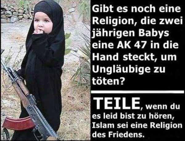 Islam Zweijährige mit Waffe #Date:02.2016#
