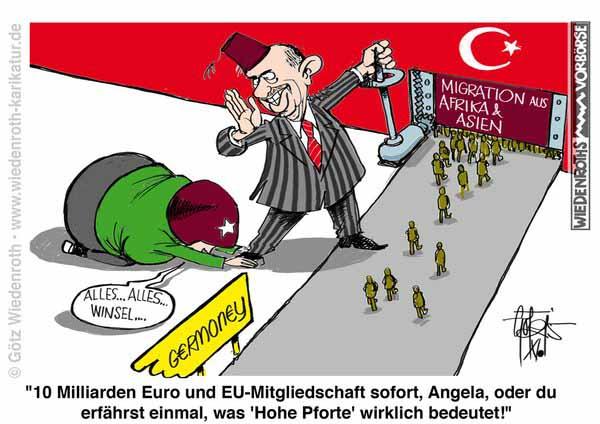Erdogan erpresst Merkel und die EU #Date:02.2016#