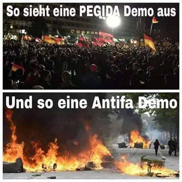 Für Wahrheitsminister Maas kein Unterschied. Friedliche Pegida-Demo und Randale der Antifa #Date:02.2016#