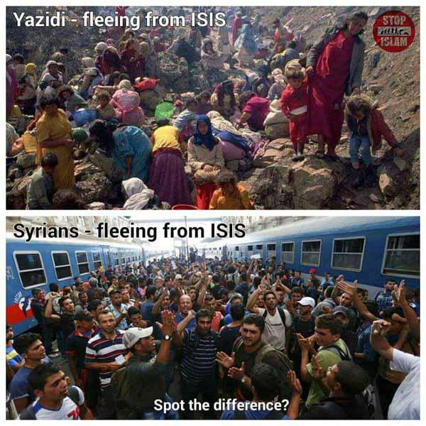 Yesidische Christen auf der Flucht, Syrische Moslems auf der Flucht #Date:02.2016#