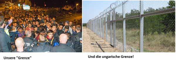 Vergleich deutsche Grenze – ungarische Grenze #Date:02.2016#