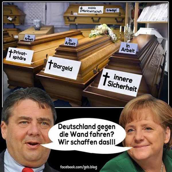 Deutschland gegen die Wand fahren, Gabriel und Merkel schaffen DAS. #Date:02.2016#