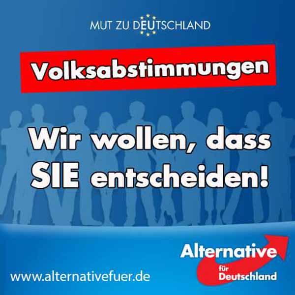 Volksabstimmungen. Mehr direkte Demokratie. Wir wollen, dass das Volk mitentscheidet. #Date:02.2016#