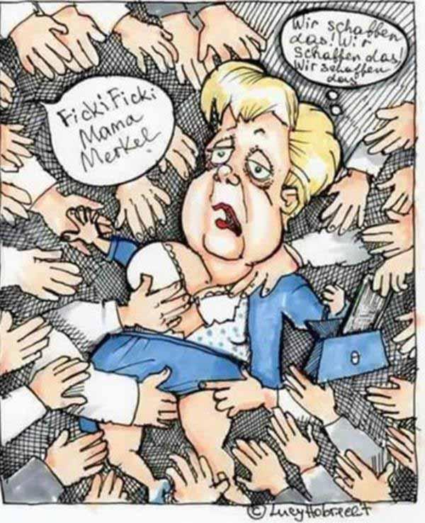 Mutti Merkel beim #taharrush gamea. Wir schaffen das. Wir schaffen das #Date:#